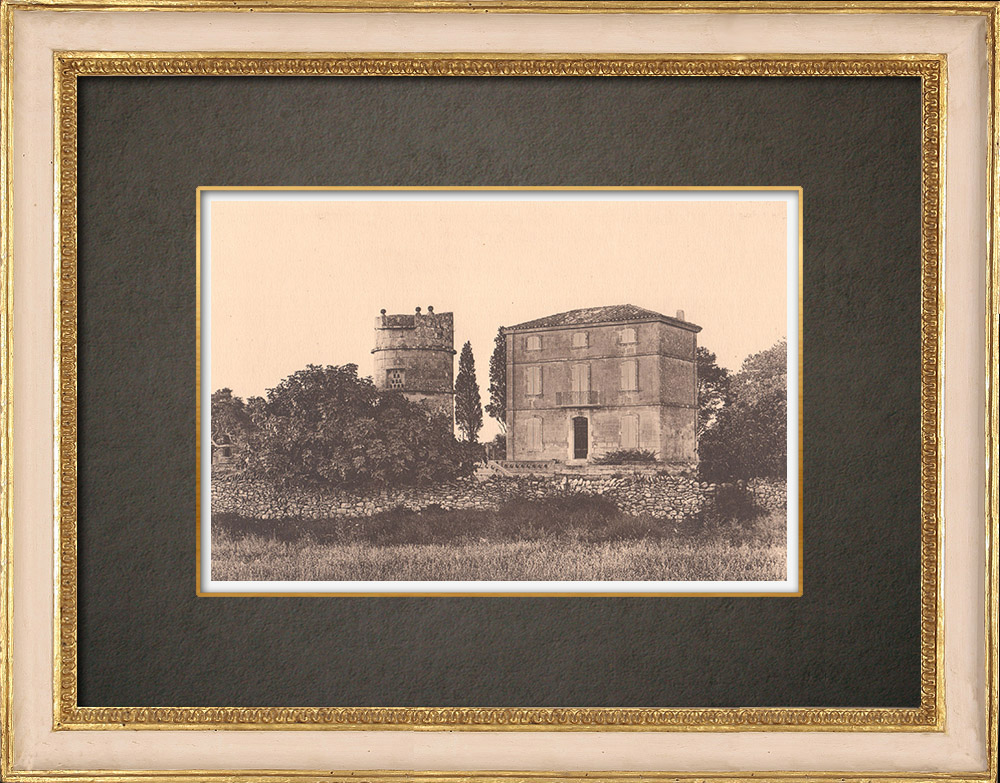 Antique Prints & Drawings | A bastide near Fontvieille - Provence (France) | Phototypie | 1928