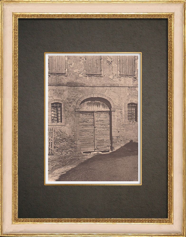 Antique Prints & Drawings | Door of an old inn at Châteauneuf-de-Gadagne - Vaucluse - Provence (France) | Phototypie | 1928