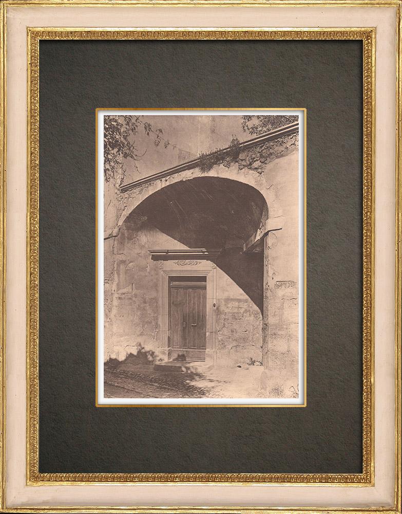Gravures Anciennes & Dessins   Porte d'une maison à Pernes - Vaucluse - Provence (France)   Phototypie   1928