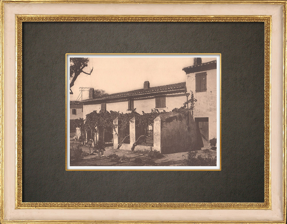 Antique Prints & Drawings | Peasant house in the Var - Provence (France) | Phototypie | 1928