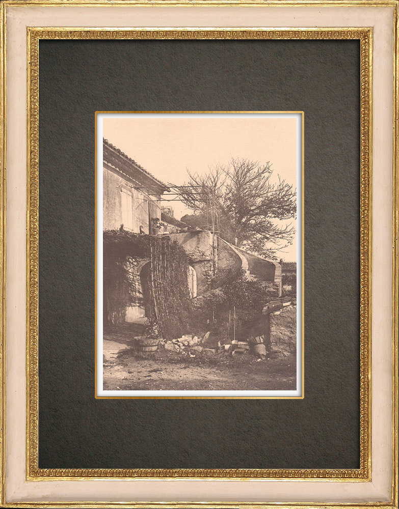 Antique Prints & Drawings   Peasant house in the Var - Provence (France)   Phototypie   1928