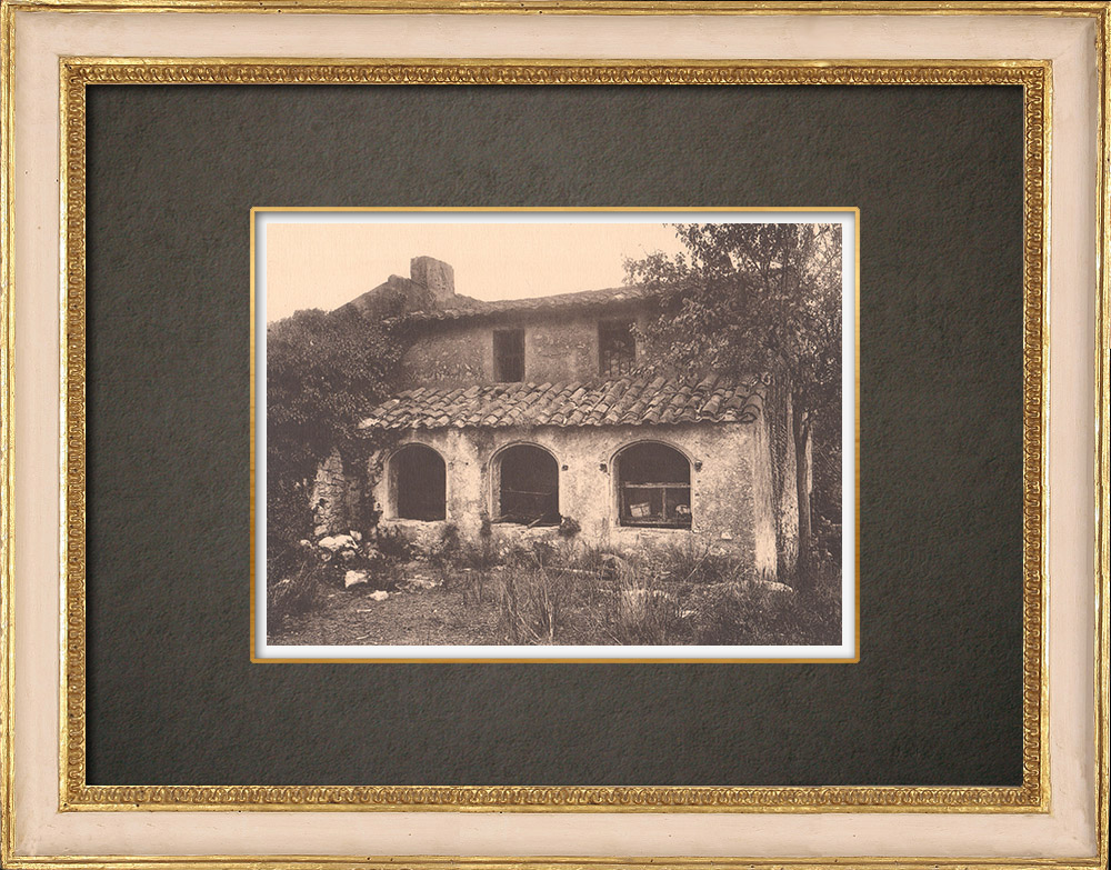 Antique Prints & Drawings   Old farm in Cassis - Provence (France)   Phototypie   1928