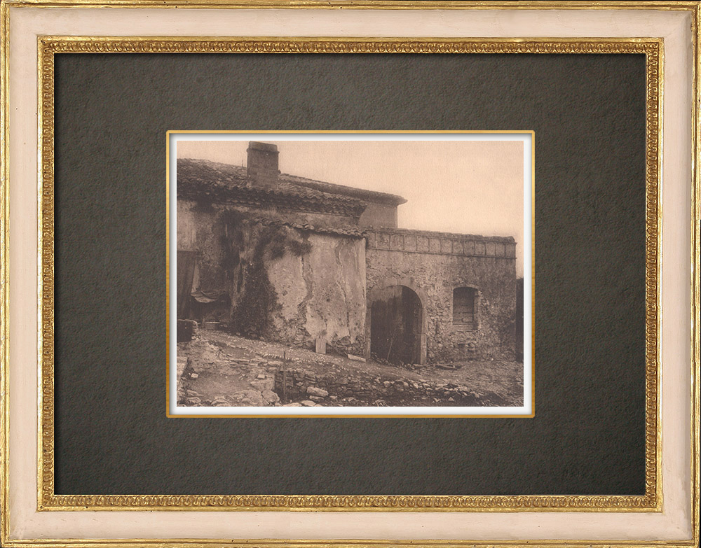 Antique Prints & Drawings | A Mas in Basse-Provence (France) | Phototypie | 1928