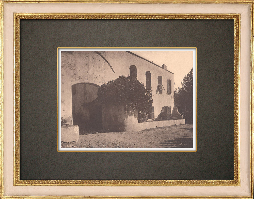 Antique Prints & Drawings   Old bastide in Maritime Provence (France)   Phototypie   1928