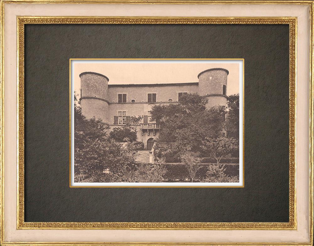 Gravures Anciennes & Dessins | Château de Valbonnette - Lambesc - Provence (France) | Phototypie | 1928