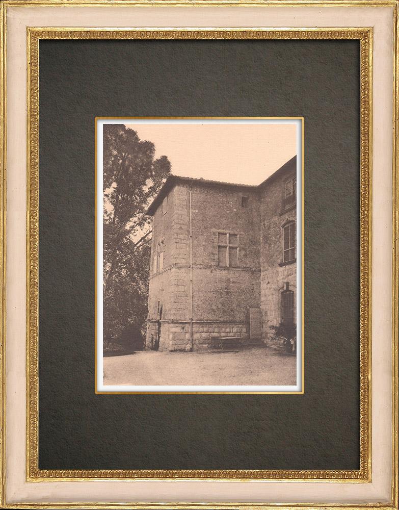 Antique Prints & Drawings   Castle Saint-Pons near Aix-en-Provence - Pavillon carré - Provence (France)   Phototypie   1928