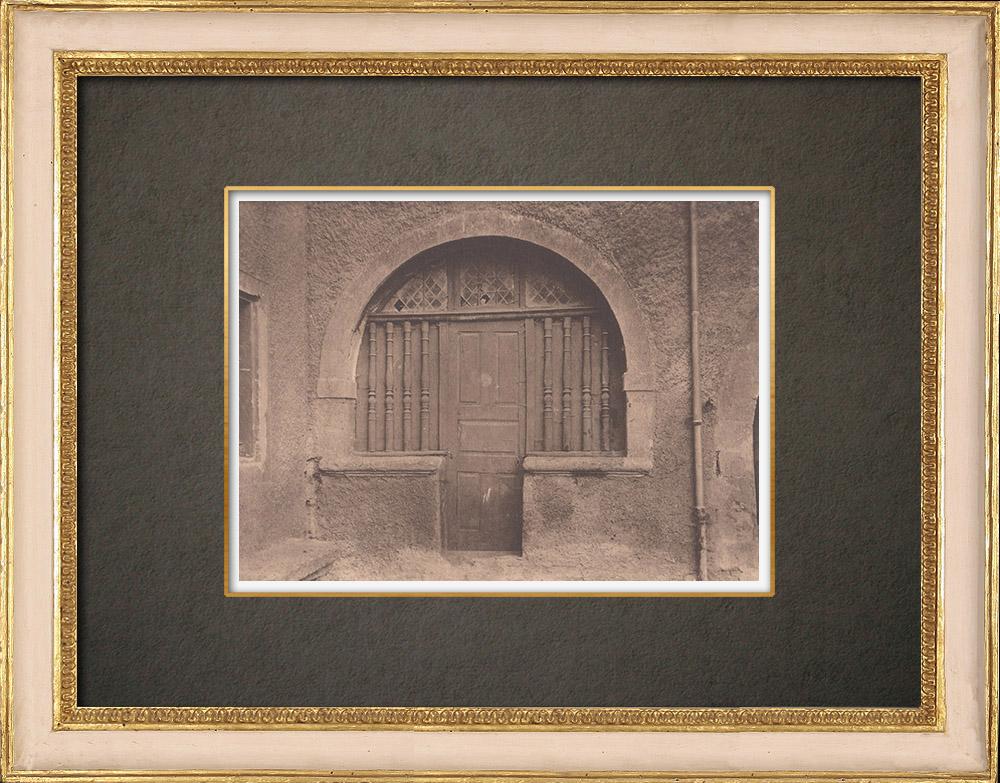 Gravures Anciennes & Dessins   Château de Beaulieu - Porte de la chapelle - Provence (France)   Phototypie   1928