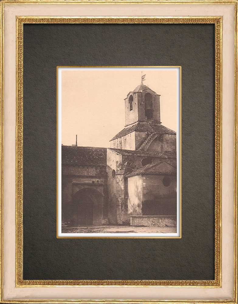 Antique Prints & Drawings   Church of Noves - Provence (France)   Phototypie   1928