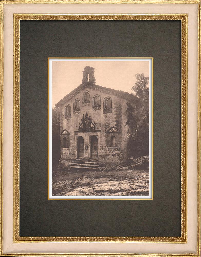 Antique Prints & Drawings | Chapel Notre-Dame-de-Pitié - Le Val - Var - Provence (France) | Phototypie | 1928