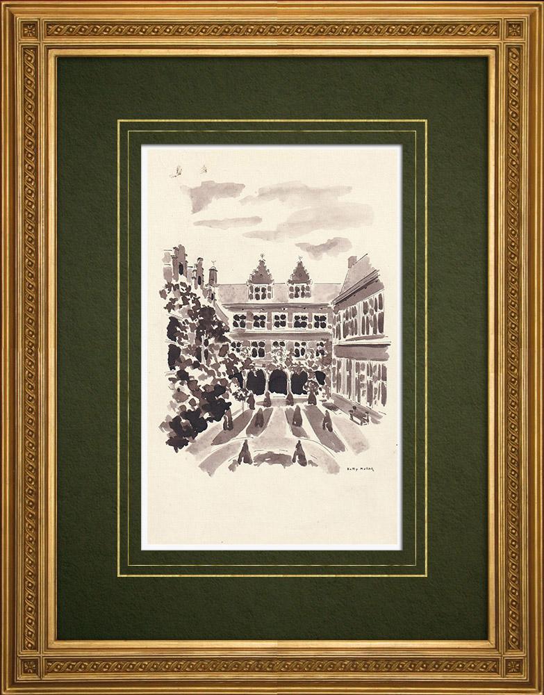 Grabados & Dibujos Antiguos | Museo Plantin-Moretus en Amberes - Bélgica (Ketty Muller) | Dibujo | 1947