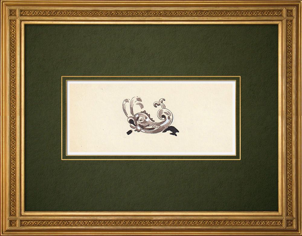 Antique Prints & Drawings | Antwerp - Belgium - Cul-de-lampe - Antverpia Mater Artium et Mercatorum 6/26 | Drawing | 1947