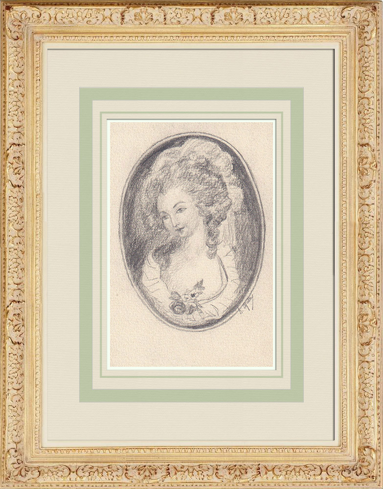 Antique Prints & Drawings | Baroness Le Guet d'Oliva (Ketty Muller) | Drawing | 1947
