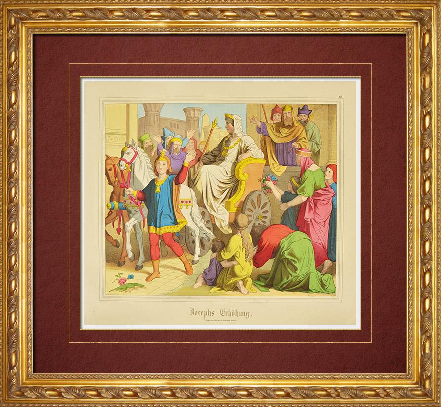 Gravures Anciennes & Dessins | Elévation de Joseph (Ancien Testament) | Gravure sur bois | 1861