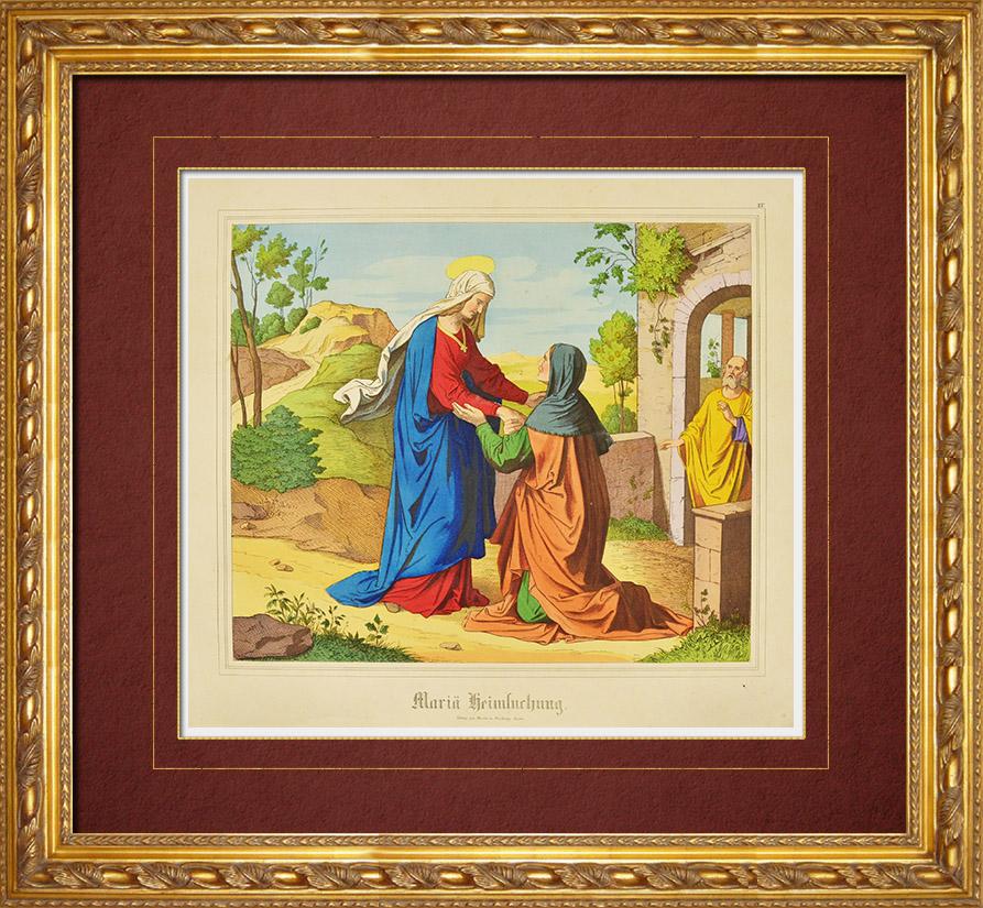 Antique Prints & Drawings   Visitation - Virgin Mary (New Testament)   Wood engraving   1861