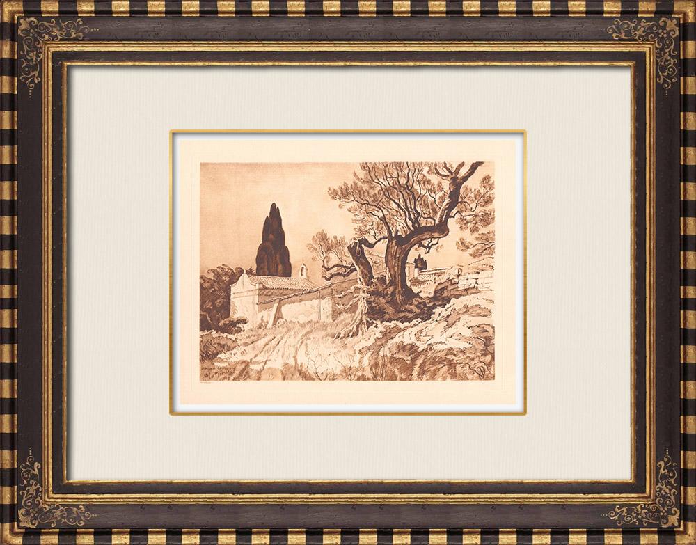 Antique Prints & Drawings | Campagne Saint-Michel - La Ciotat - Provence-Alpes-Côte d'Azur (France) | Copper engraving | 1943