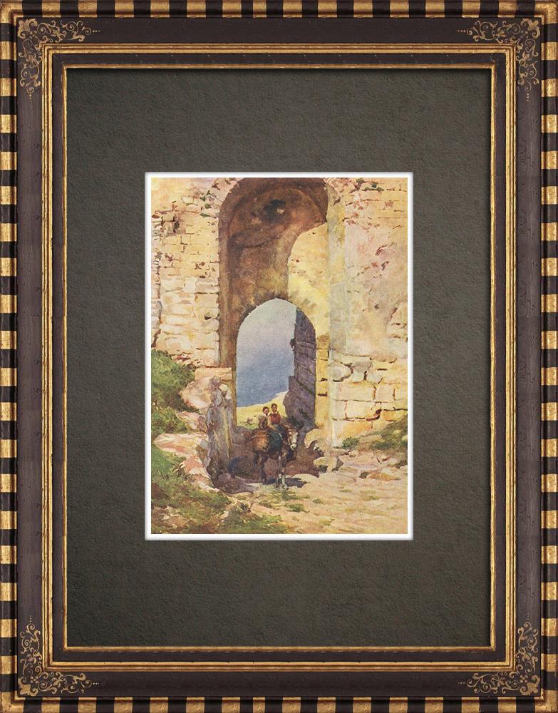 Antique Prints & Drawings | Porta Spada - Monte San Giuliano - Erice - Sicily (Italy) | Print | 1911