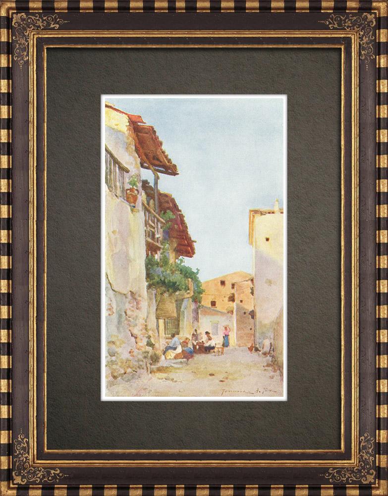Antique Prints & Drawings | View of Taormina - Messina - Sicily (Italy) | Print | 1911