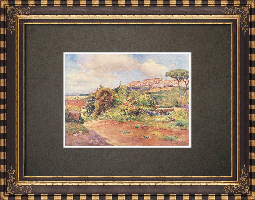 Antique Prints & Drawings | View of Girgenti - Agrigente - Sicily (Italy) | Print | 1911