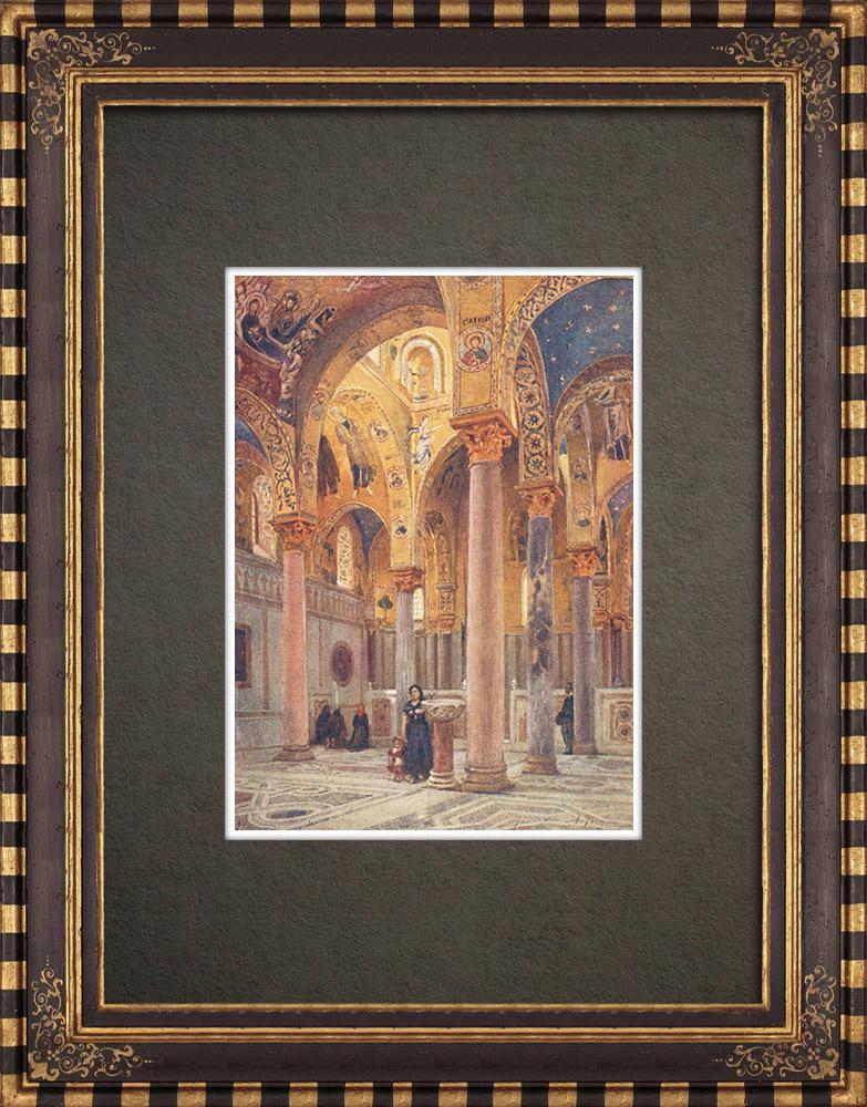 Antique Prints & Drawings | The Martorana - Palermo - Sicily (Italy) | Print | 1911