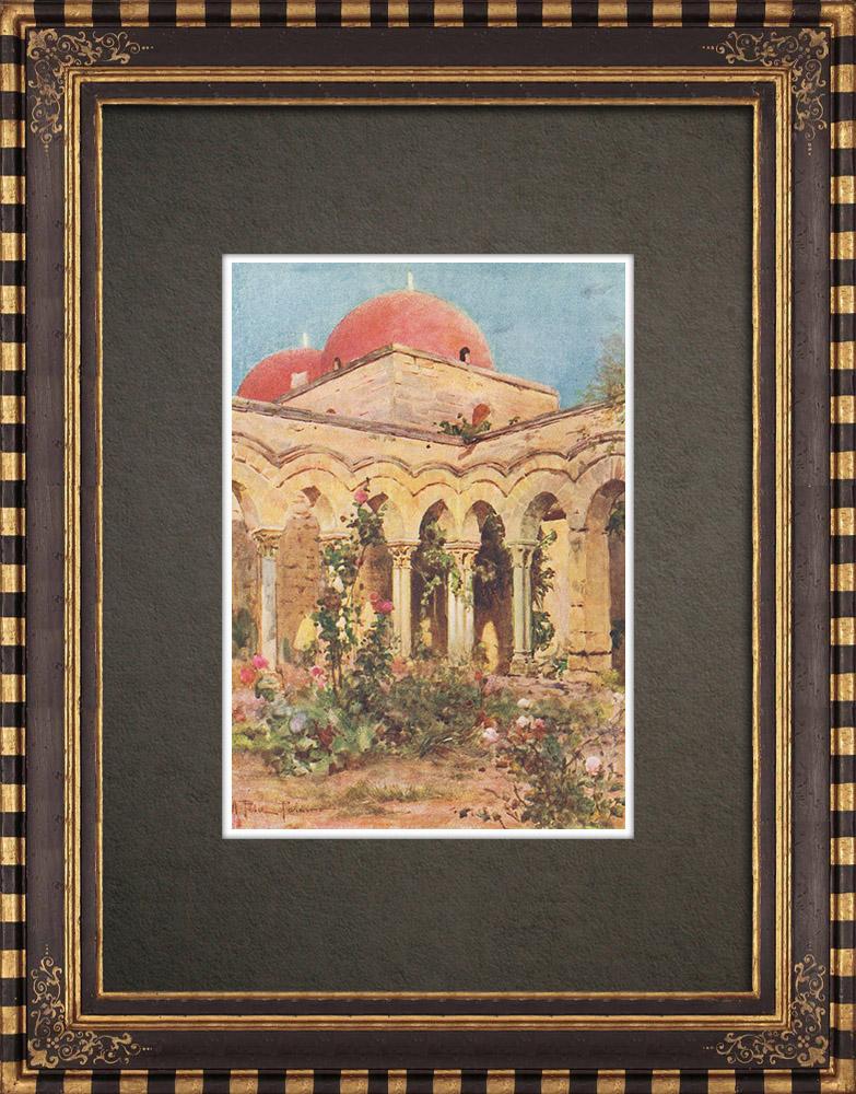 Antique Prints & Drawings | San Giovanni degli Eremiti - Palermo - Sicily (Italy) | Print | 1911