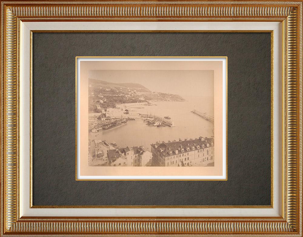 Gravures Anciennes & Dessins | Le Port de Nice - Côte d'Azur - Alpes-Marítimes (France) | Photographie | 1880