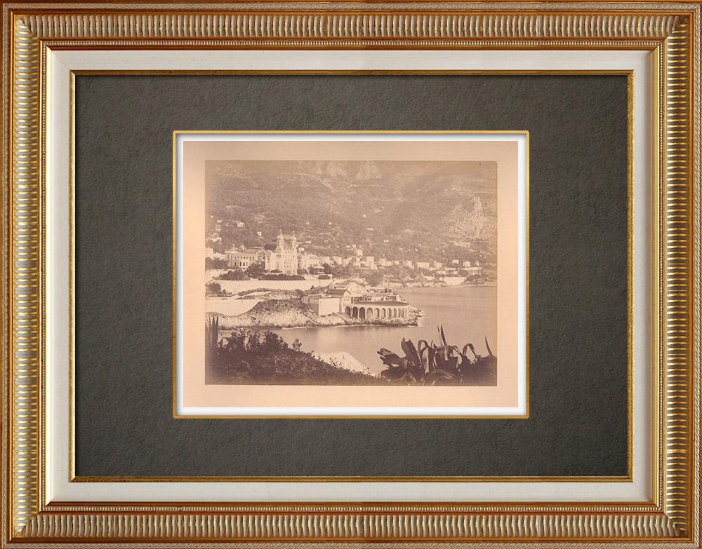 Gravures Anciennes & Dessins | Principauté de Monaco - Casino de Monte Carlo - Tir aux pigeons - Côte d'Azur | Photographie | 1880