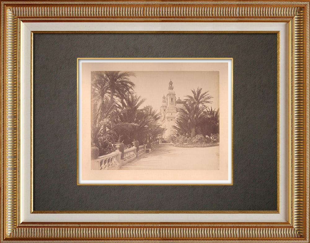Gravures Anciennes & Dessins | Principauté de Monaco - Monte-Carlo - Côte d'Azur - Théâtre - Jardin | Photographie | 1880