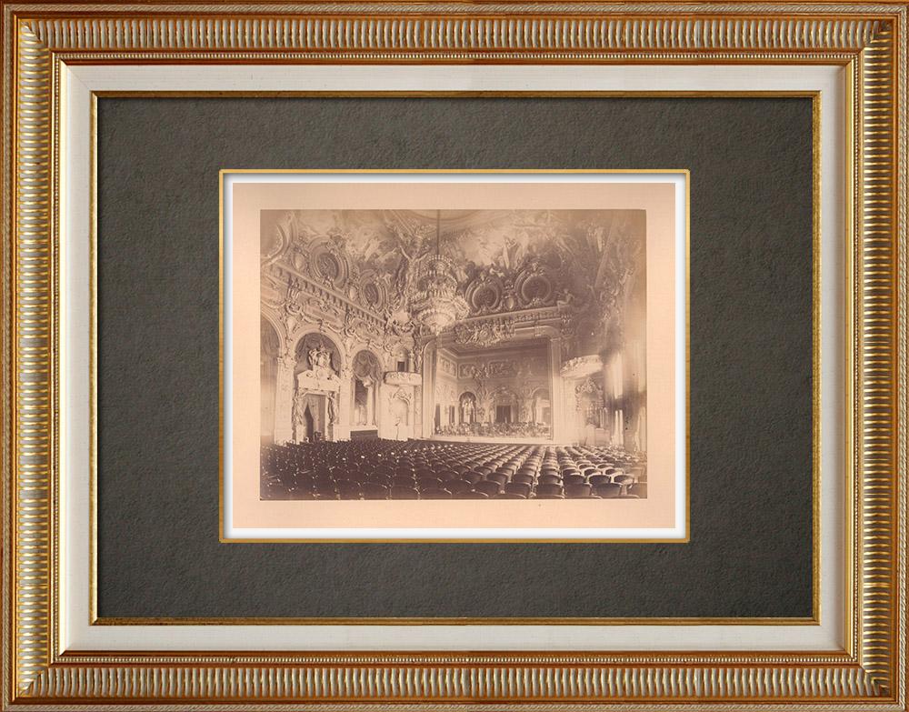 Grabados & Dibujos Antiguos | Principado de Mónaco - Monte Carlo - Casino - Sala de conciertos - Costa Azul | Fotografía | 1880
