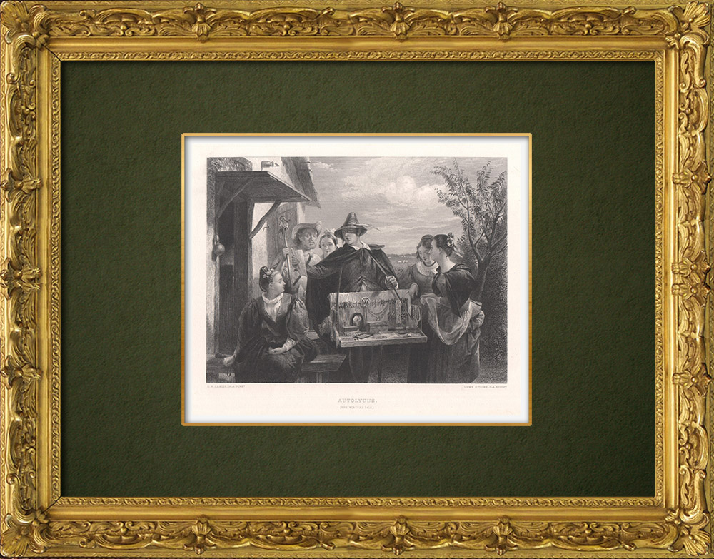 Antique Prints & Drawings | Autolycus - The Winter's Tale (William Shakespeare) | Intaglio print | 1875
