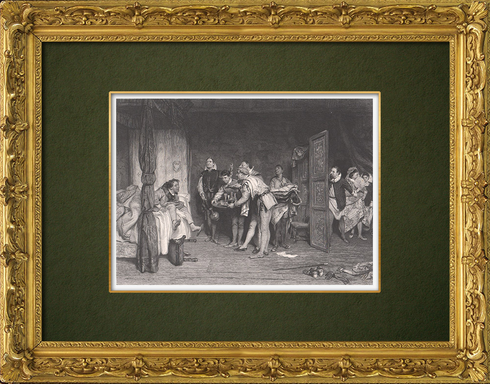 Antique Prints & Drawings | Christopher Sly - The Taming of the Shrew (William Shakespeare) | Intaglio print | 1875