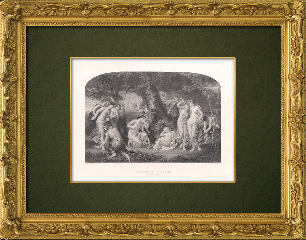 Antique Prints & Drawings | Disarming of Cupid - Sonnet CL IV (William Shakespeare) | Intaglio print | 1875