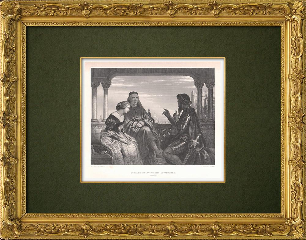 Antique Prints & Drawings | Othello relating his adventures - Othello (William Shakespeare) | Intaglio print | 1875