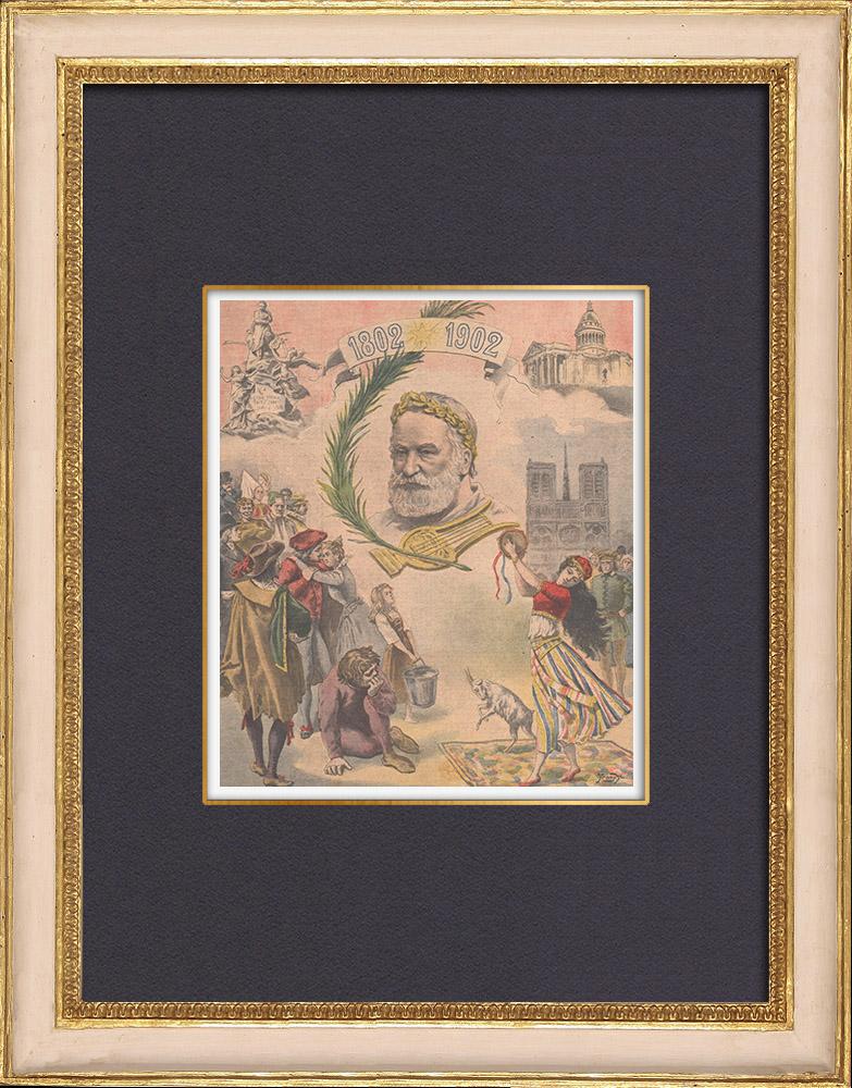 Gravures Anciennes & Dessins | Hommage à Victor Hugo (1802-1885) | Gravure sur bois | 1902