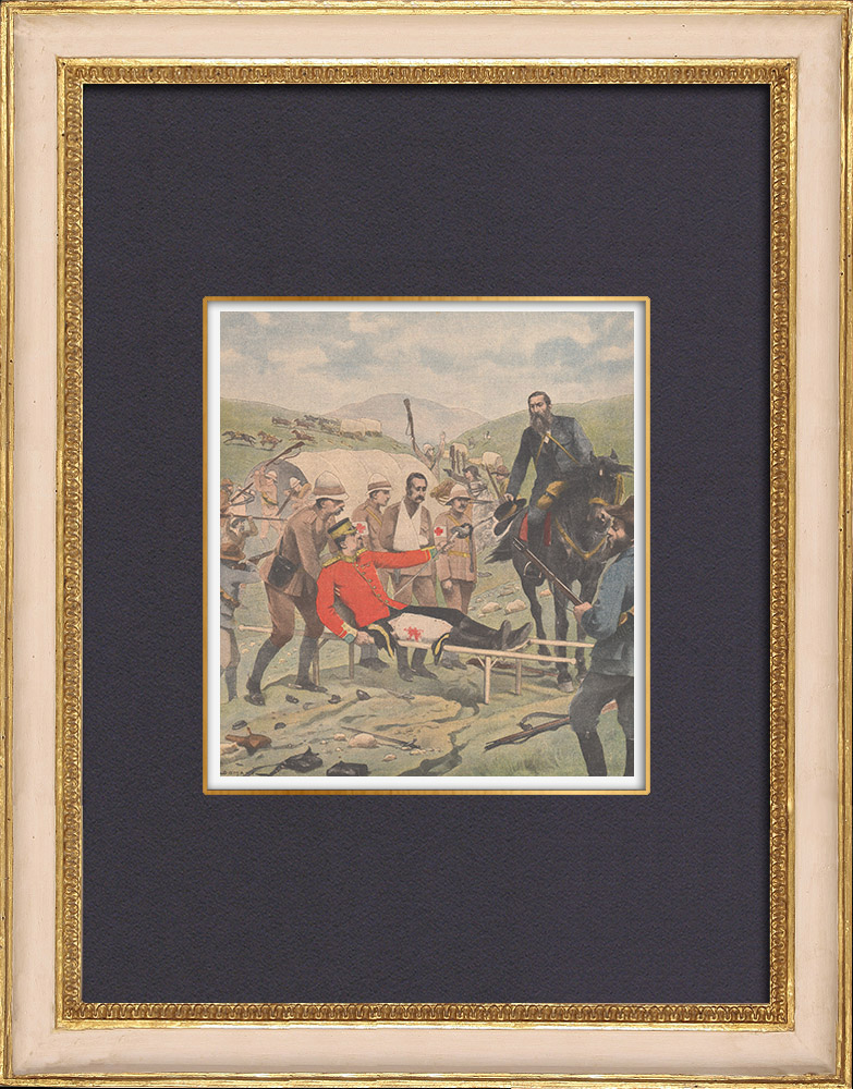 Antique Prints & Drawings | Battle of Tweebosch - Lord Methuen captured and released by the Boers - South Africa - 1902 | Wood engraving | 1902