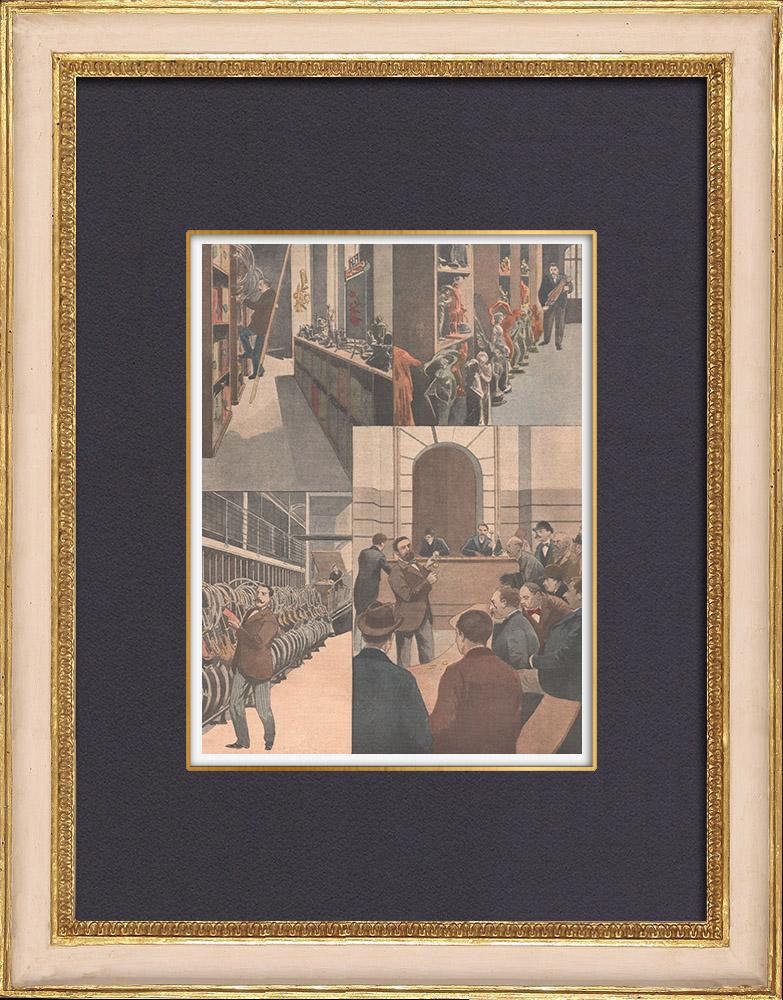 Antique Prints & Drawings | Mount of Piety - Pawnbroker - Paris - 1902 | Wood engraving | 1902