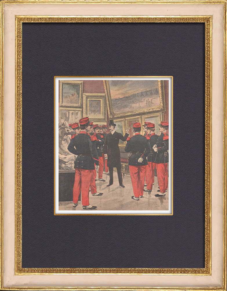 Antique Prints & Drawings | Soldiers' art instruction - France - 1902 | Wood engraving | 1902