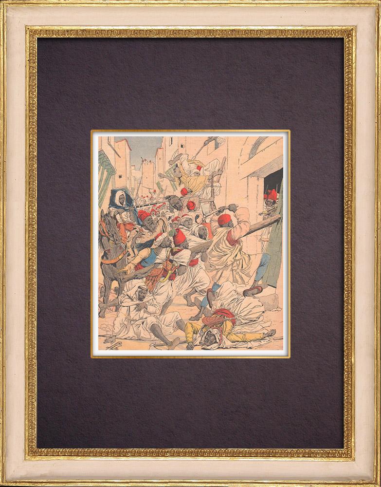 Gravures Anciennes & Dessins | Guerre civile au Maroc - 1903 | Gravure sur bois | 1903