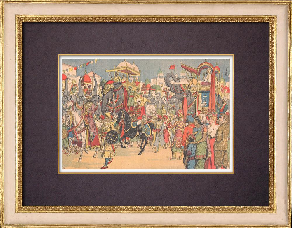 Antique Prints & Drawings   Delhi Durbar - Edward VII Emperor of India - Coronation Park - Delhi - 1903   Wood engraving   1903