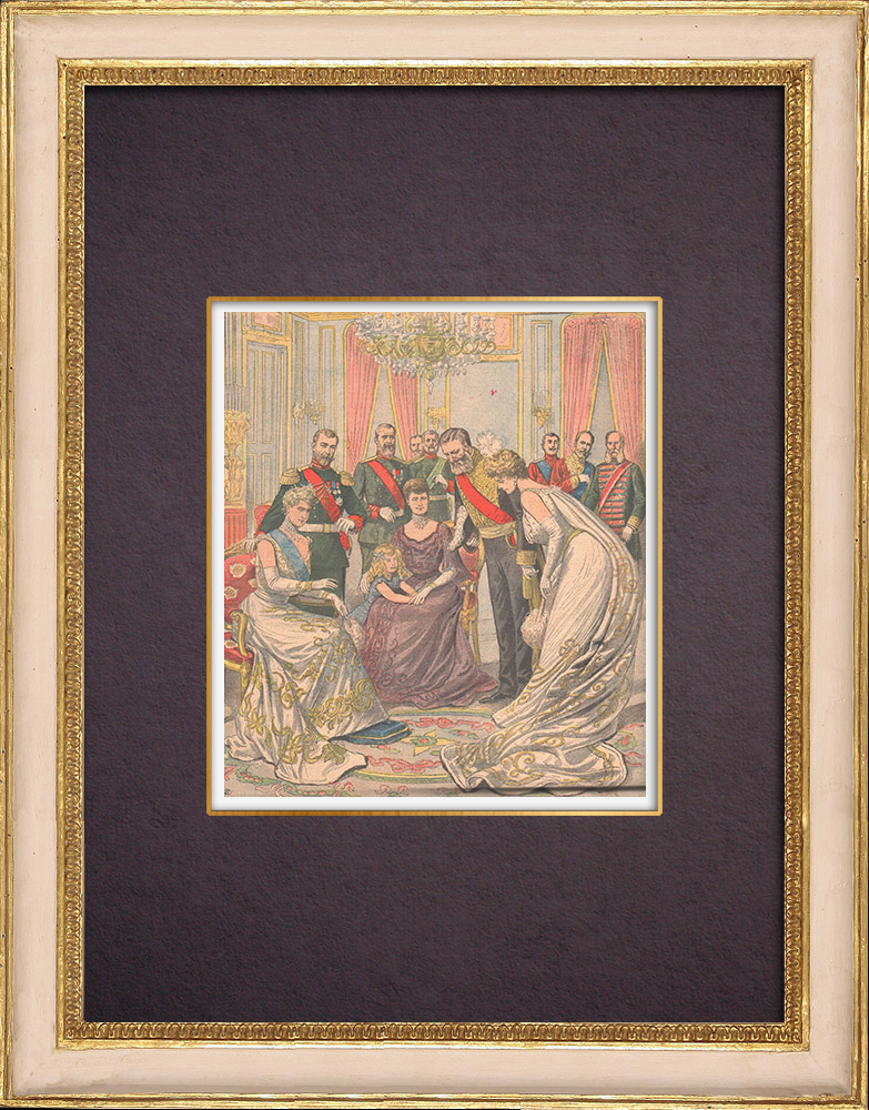 Antique Prints & Drawings | Tribute of the Russian Empresses to the Ambassador of France - Saint Petersburg - 1903 | Wood engraving | 1903