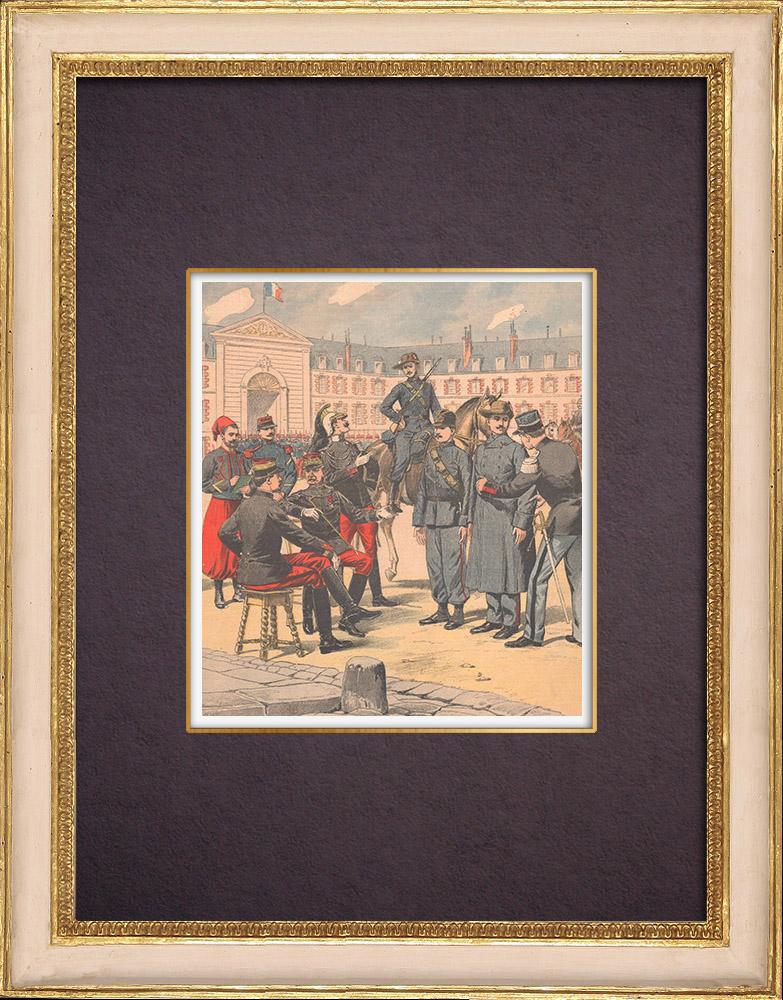 Gravures Anciennes & Dessins | Projet d'un nouvel uniforme militaire - Armée Française - 1903 | Gravure sur bois | 1903