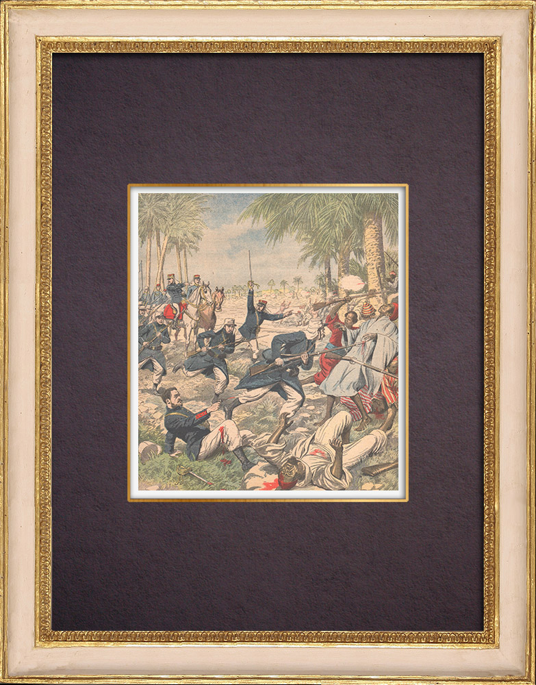 Antique Prints & Drawings | French soldiers attacked by Moroccans - Repression - Figuig - Morocco - 1903 | Wood engraving | 1903