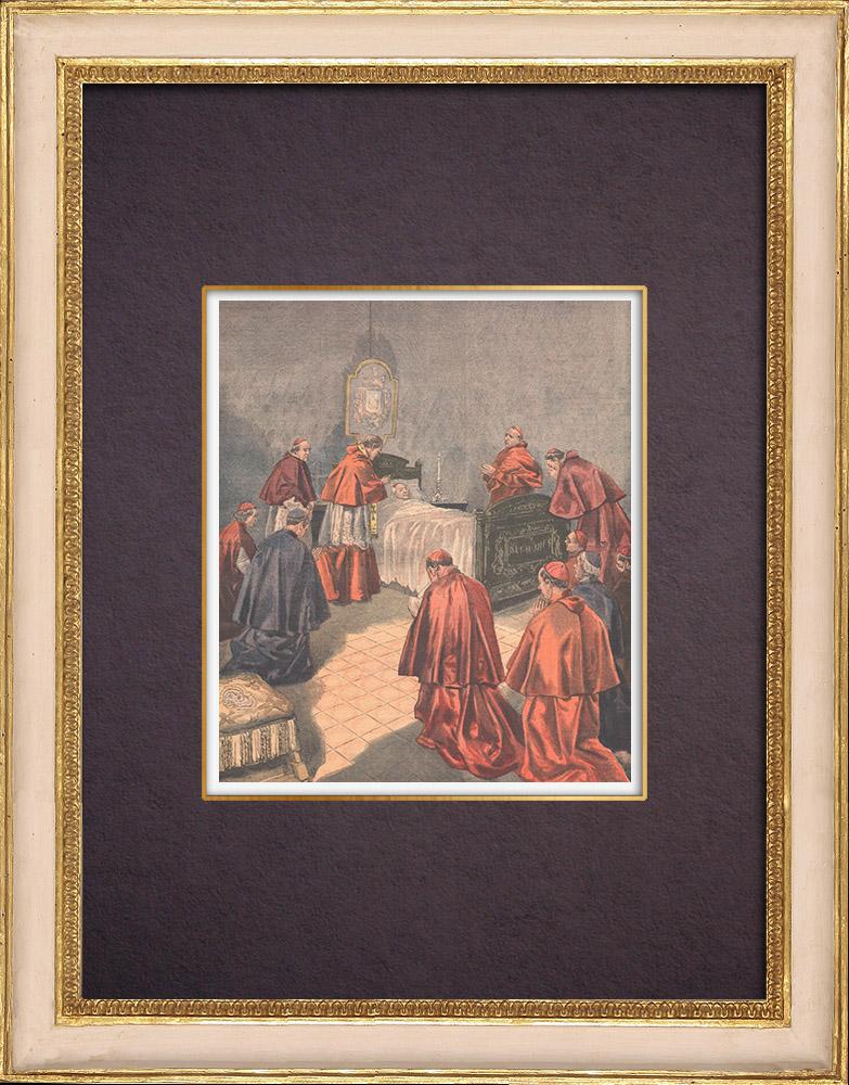 Gravures Anciennes & Dessins | Mort du Pape Léon XIII - Rome - 1903 | Gravure sur bois | 1903