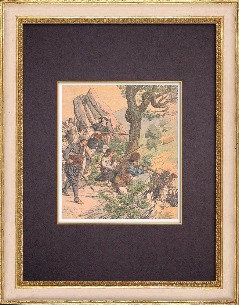 Grabados & Dibujos Antiguos   Juana de Arco Macedonia - 1903   Grabado xilográfico   1903