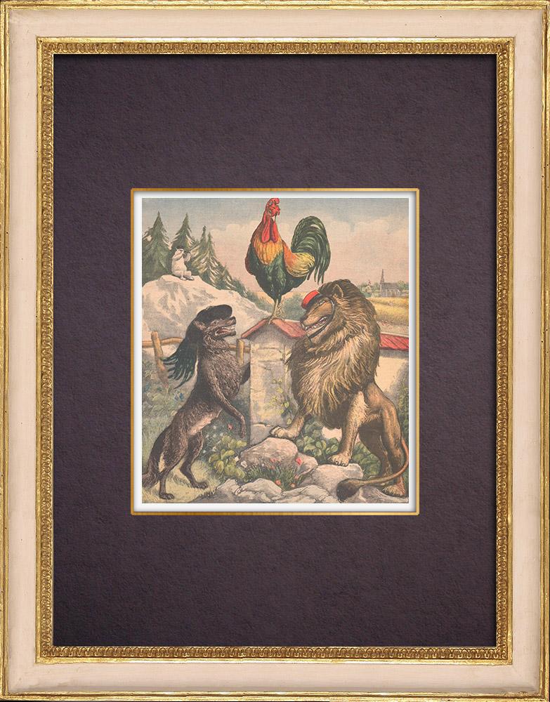 Antique Prints & Drawings   Viens Poupoule ! Viens ! - 1903   Wood engraving   1903