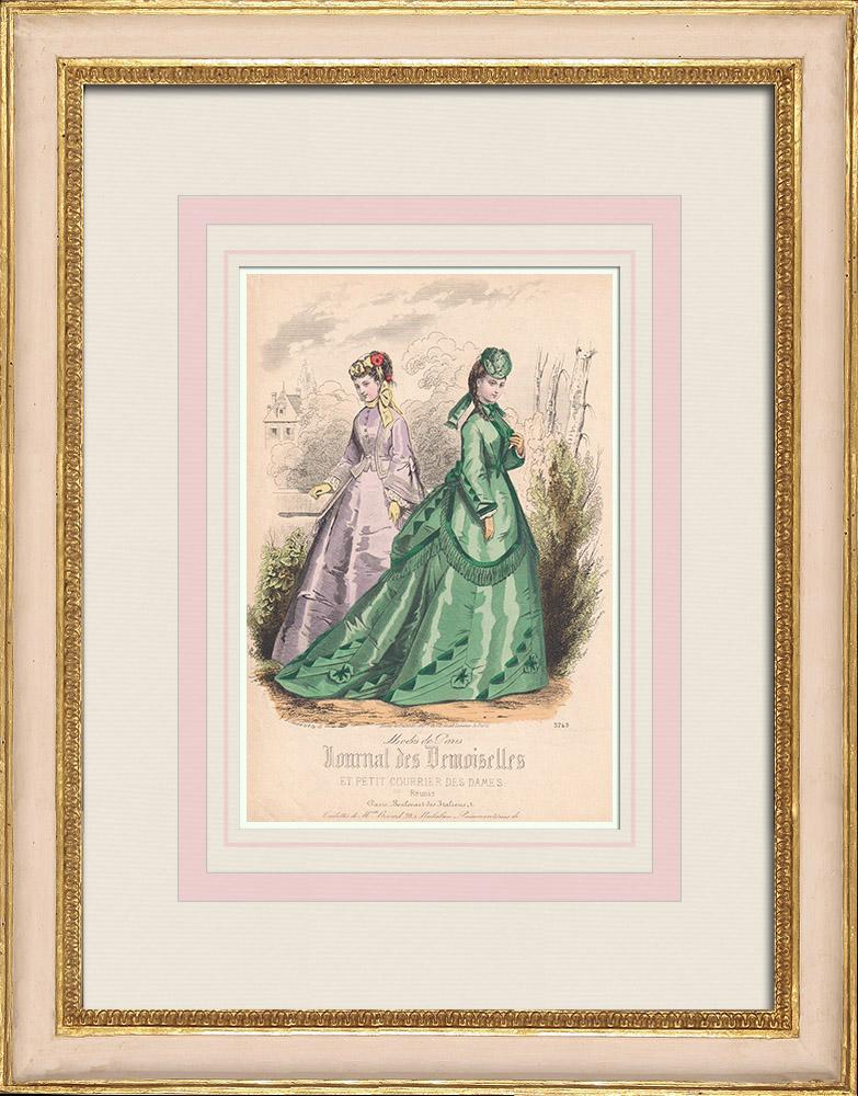 Antique Prints & Drawings | Fashion Plate - Paris - Melle Bricard - Mme Leoty | Intaglio print | 1855