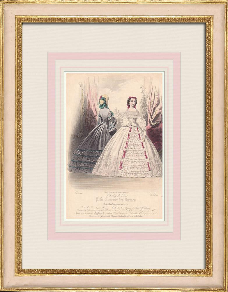 Antique Prints & Drawings | Fashion Plate - Paris - Fauvet | Intaglio print | 1855