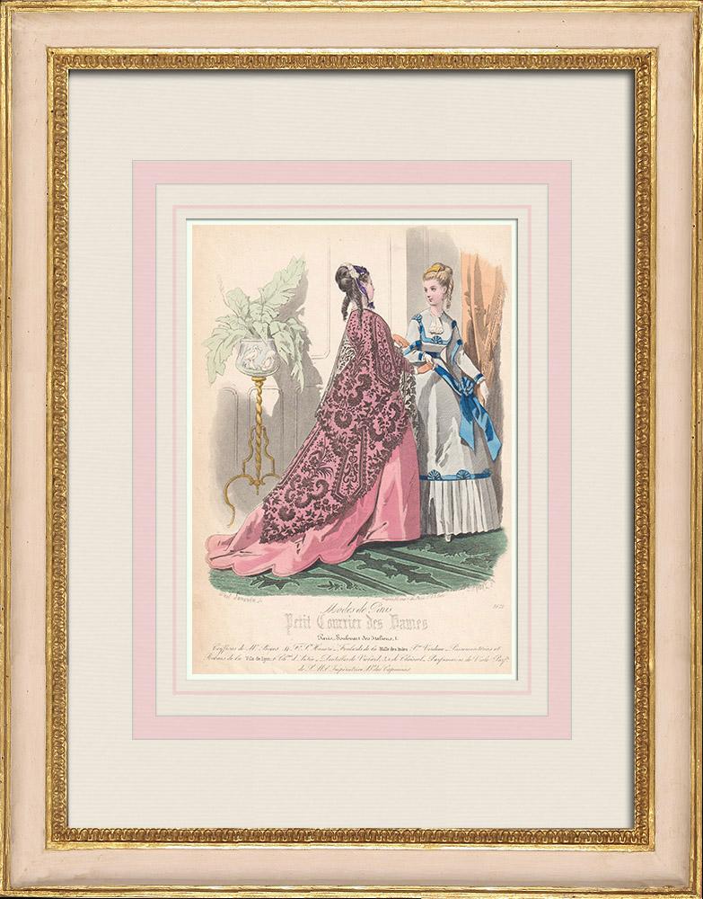Antique Prints & Drawings | Fashion Plate - Paris - Mr Bigos - Violard | Intaglio print | 1855