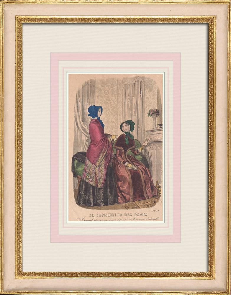 Gravures Anciennes & Dessins | Gravure de Mode - Paris - 1848 - Thierry | Taille-douce | 1848