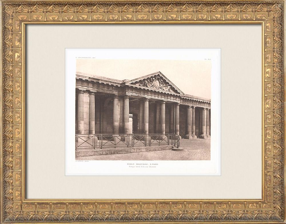 Antique Prints & Drawings   Ecole Militaire - Champ-de-Mars - Paris (Ange-Jacques Gabriel)   Heliogravure   1911