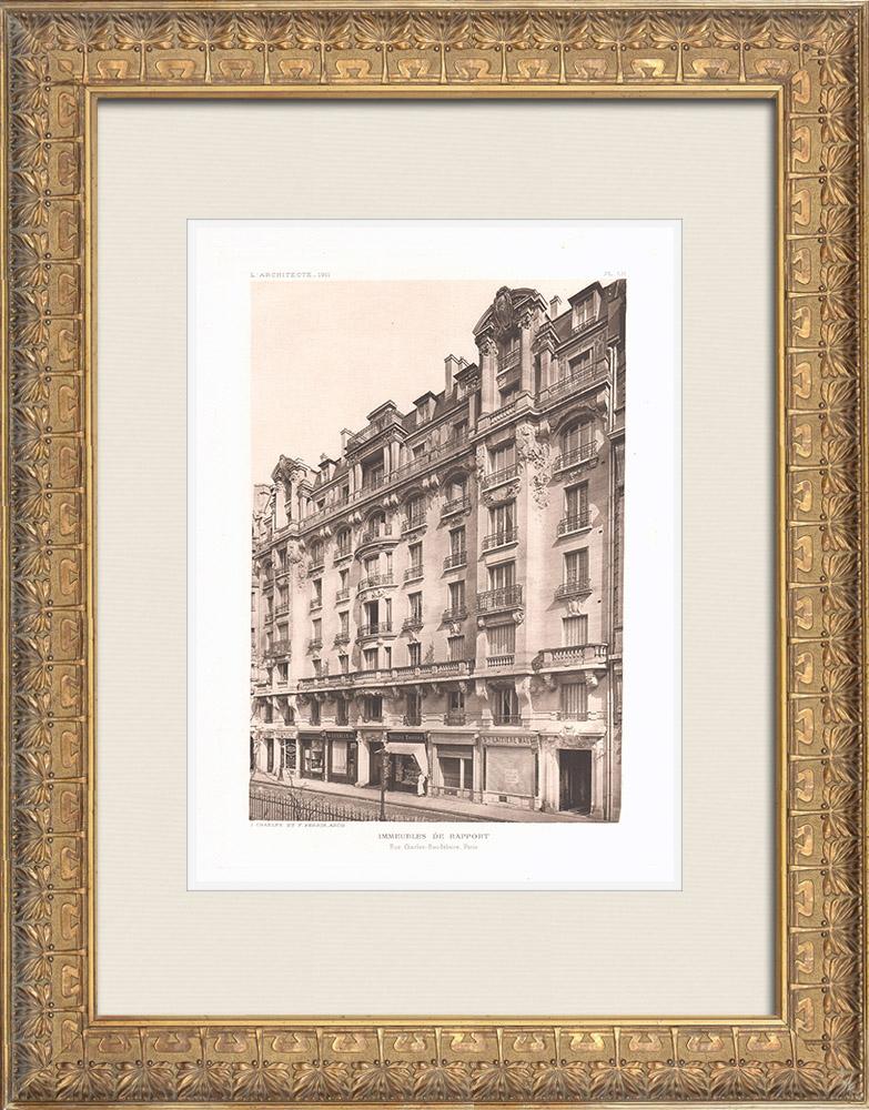 Antique Prints & Drawings   Buildings in Paris (Charlet & Perrin)   Heliogravure   1911